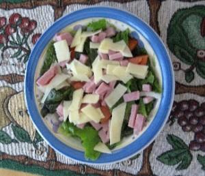 Low Carb Ham Chef Salad