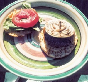 cheese burger on low carb roll